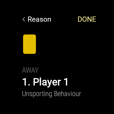 Yellow/Red card